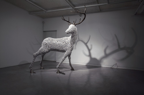 The White Kingdom by Dong Hun. 2015. Stainless steel, Iron, Ceramic. Sculpture.