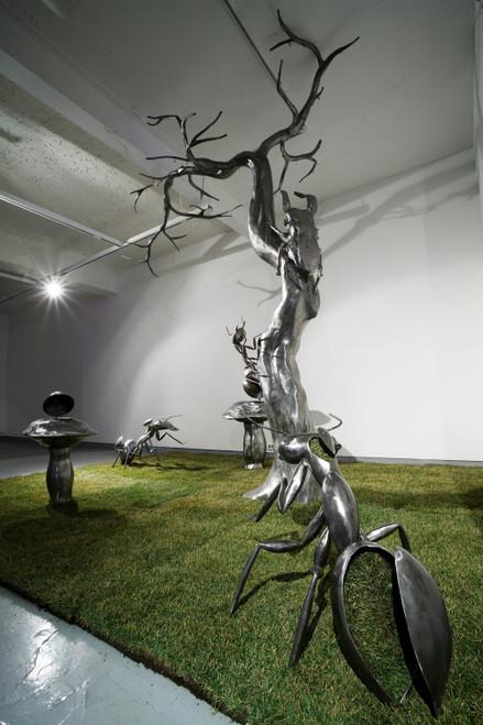 Secret Garden by Dong Hun. 2009. Iron, Lawn. Sculpture.
