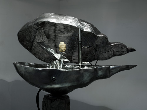Into the Cloud by Dong Hun. Iron, Tech-Machinery. Sculpture.