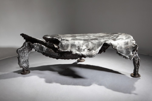 The sonance of rock by Dong Hun. 2014 Iron. Sculpture.