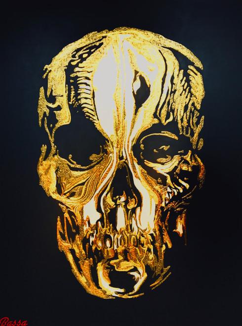 'Alexander McQueen's 'The Skull' by BASSA. Acrylic on Canvas.