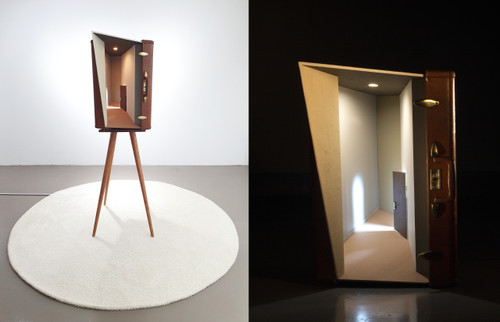 302 by Cha Minyoung. 2020. Wood, Polycarbonate, LED Lamp etc. Sculpture.