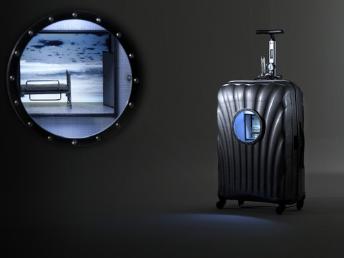 Air Trunk by Cha Minyoung. 2012. Polycarbonate, LCD monitor, LED Lamp etc. Sculpture.