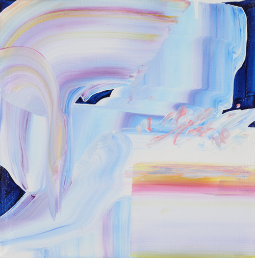 Pushed times to the cliff by Jeon Heekyoung. 2020. acrylic on canvas. abstract, landscape, brush stroke.