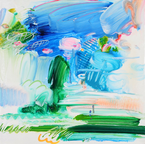 Meet the moment by Jeon Heekyoung. 2020. acrylic on canvas. abstract, landscape, brush stroke.