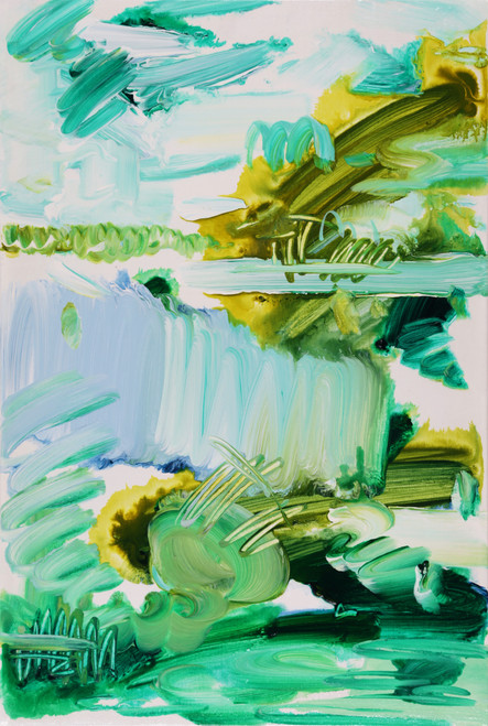 Early Dawn by Jeon Heekyoung. 2020. acrylic on canvas. abstract, landscape, brush stroke.