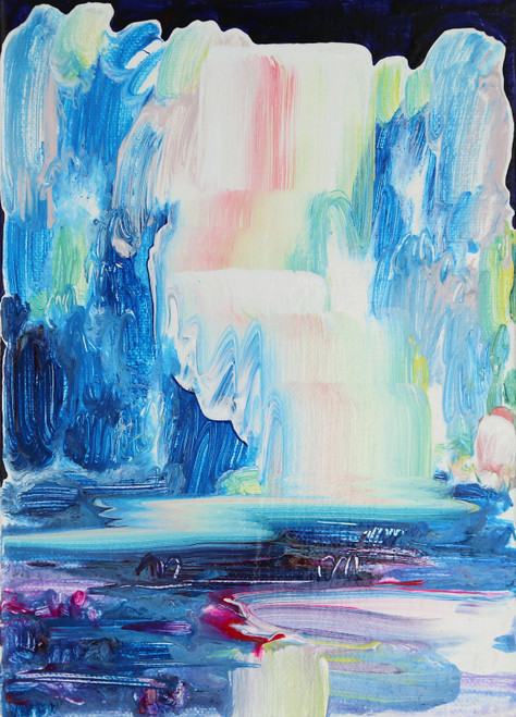 My shining source by Jeon Heekyoung. 2020. acrylic on canvas. abstract, landscape, brush stroke.