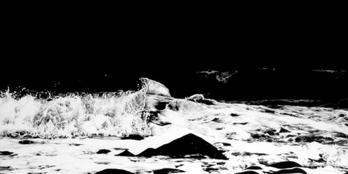 lost Landscape-Oeyun Islands(Korea) by Kim Jaenam. 2011. Charcoal on canvas(cotton).