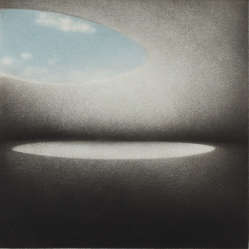 J'attends (I am waiting)  by HeeKyung Chung. 2013. Printmaking - mezzotint on Hahnemuhle paper