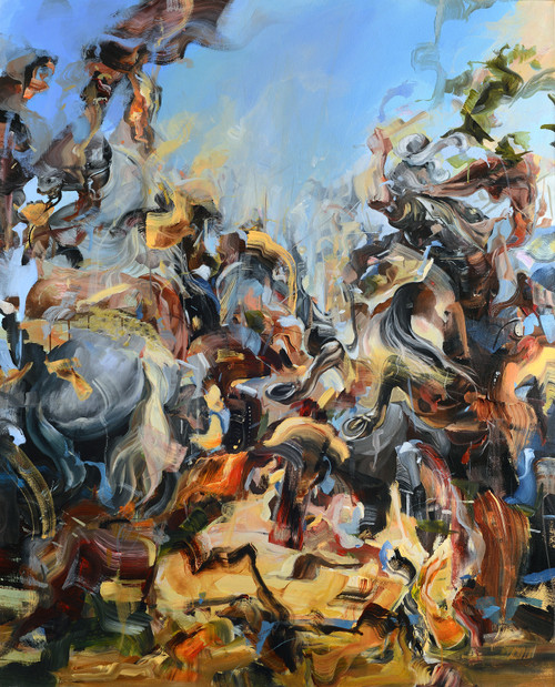 Eclectic Gallery_Dairo Vargas_Fragmented Reality_2020_Mixed media on canvas_160 x 130cm