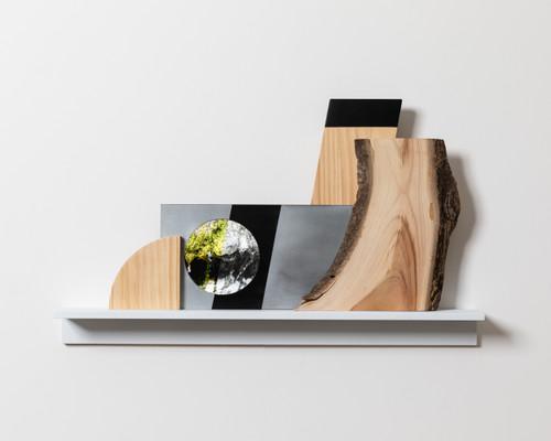 """hopeness _GonaeLy by Guem MinJeong. 2019. digital frame (10""""), wood, steel 00:03:59 loop, ed of 5"""