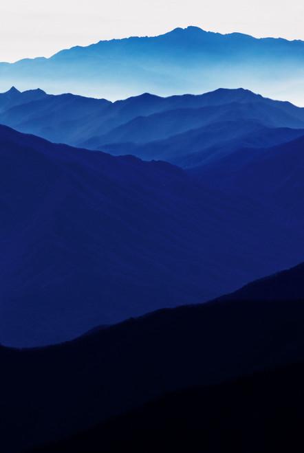 Blue Mountain 2147 by Lim Chaewook. 160x107cm, Archival Pigment Print on Hanji, 2021.