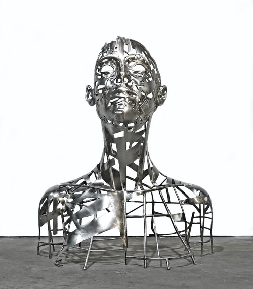 Miralcel 1, 2021, Stainless steel sculpture, 225 x 185 x 120cm