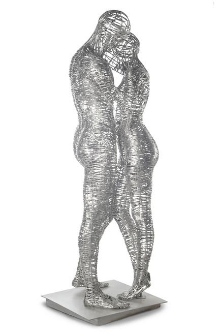 Eclectic Gallery_Jordi Díez Fernández_Steel Lovers_2019_Stainless steel sculpture_190 x 50 x 60cm