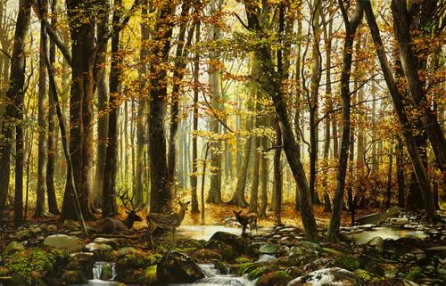 Eclectic Gallery_Alexey Golovin_Autumn Landscape_2018_Oil on canvas_90 x 140cm