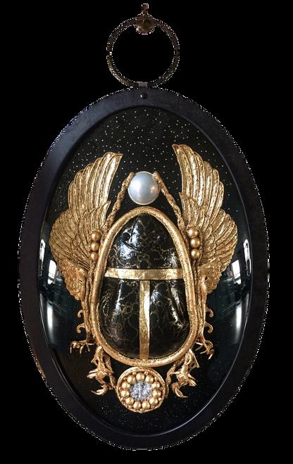 XXL Medallion 'Scarab' by Carina Wagenaar. 2018. Mixed-media. Modern Symbolism