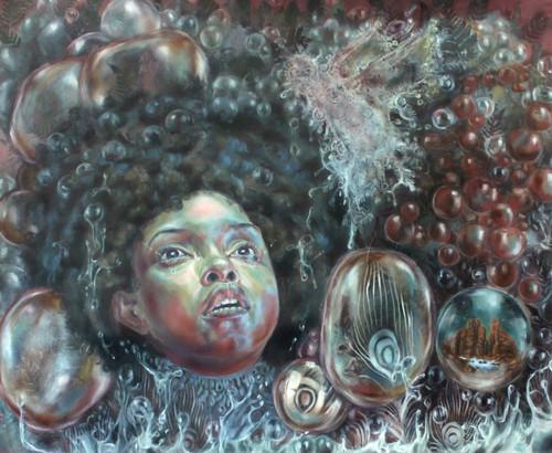 Wool III - Tears 2015 by Crystal Marshall. 2015. Oil on Paper