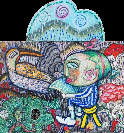 chung hye-jin_wonderland_sunny_2018_Acrylic colour on hard paper
