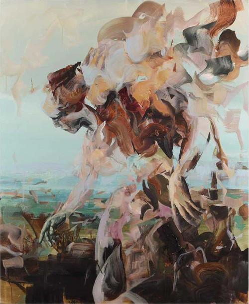 Dairo Vargas, Core response, 2021, Mixed media on canvas, 137 x 117cm