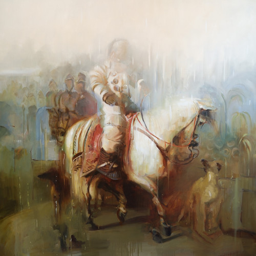 Eclectic Gallery_Johnny Morant_Triumphal Return_2020_Oil on canvas_160 x 160cm