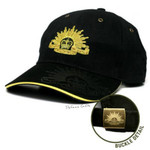 "Stunning Army Cap ""Black"" Rising Sun on Peak"