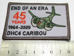RAAF CARIBOU END OF AN ERA Patch 75mm x 55mm