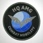 AMG Round Uniform Patch Velcro Backing