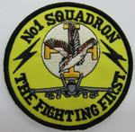 1 SQN Fighting First Round Uniform Patch