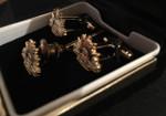ARMY Rising Sun Cufflinks & Tie Pin - GOLD