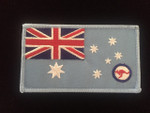 RAAF Ensign  95mm x 55mm With NO Velcro Backing