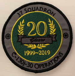 37SQN Round - 20th Anniversary Op Service  (with velcro)