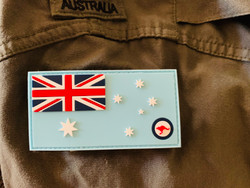 *NEW STOCK *  PVC RAAF Ensign  - velcro included in price   - easy to maintain and keep clean    - Approved to wear