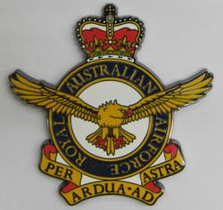 Royal Australian Air Force Metal Crest RAAF Crest