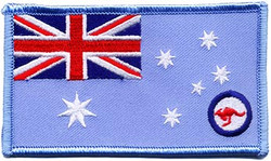 RAAF Ensign  95mm x 55mm With Velcro Backing