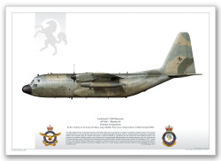 Lithograph of  Lockheed C-130H A97-010- Mambo34