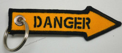 Embroidered DANGER Key Tag, Bag Tag
