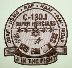 J IN THE FIGHT Uniform Patch C-130J SUPER HERCULES