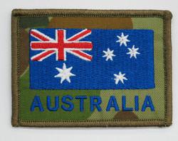 Embroidered Australian Flag on DPCU 75mm x 55mm