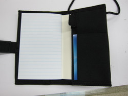 Notebook / ID Holder - Black
