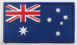 Aust. Flag 95mm x 55mm With Velcro Backing