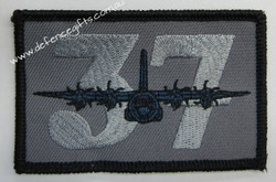 37 sqn Rectangle  Patch  with Velcro Backing