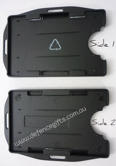 Double ID / Fuel Card Holder Black