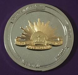 Rising Sun 50MM Coin