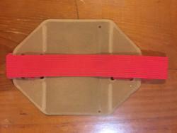 Orange Arm Band ID Holder with single Red Strap