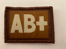 AB + Blood Group Patch