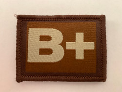 B + Blood Group Patch