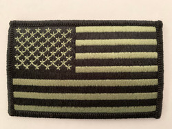 US Flag Black and White Patch