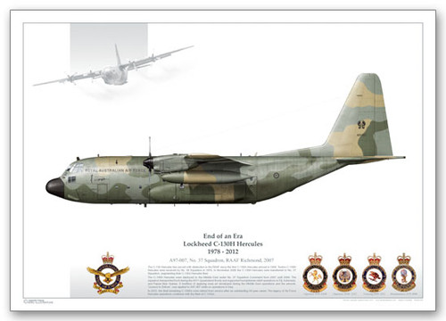 High Quality Limited  Print of 37 Sqn, A97-007  by Juanita Franzi