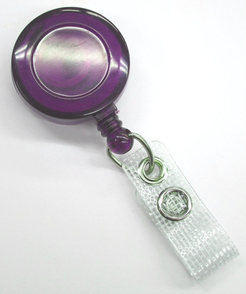 Purple ID Reel - Spring Clip