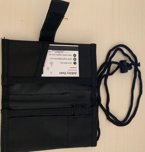Notebook / ID Holder - Black